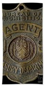 Prohibition Agent Badge Beach Towel