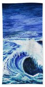 Promethea Ocean Triptych 1 Beach Towel