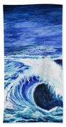 Promethea Ocean Triptych 1 Beach Sheet