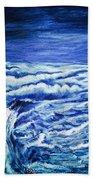 Promethea Ocean Triptych 3 Beach Towel