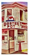 Provincetown Tradition Lobster Pot Beach Towel