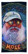 Psycodelic Mandolinist Beach Towel by Robert FERD Frank