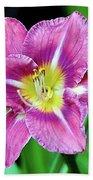 Purple And Yellow Flower Beach Towel