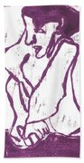 Purple Chef Beach Towel