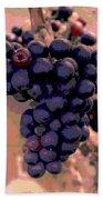 Purple Grape Bunches 18 Beach Towel