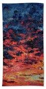 Purple Sun Beach Towel
