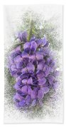 Purple Texas Mountain Laurel Flower Cluster Beach Towel by Patti Deters