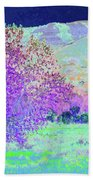 Purple Tree Reverie Beach Sheet