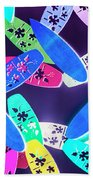 Purple Waters Beach Towel