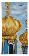 Pushkin Palace Towers Beach Towel by Maria Langgle