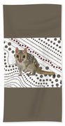 Q Is For Quoll Beach Towel