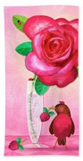 R Is For Rose And Robin Beach Towel