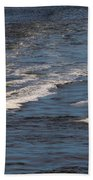 Racing To The Harbor Beach Towel