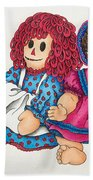 Raggedy Ann And Friend  Beach Towel