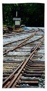 Railroad Siding Tracks Beach Towel