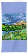 Rain Clouds On The Way To Sweetwater Beach Towel