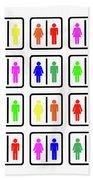 Rainbow Gender Men Women Study Beach Towel