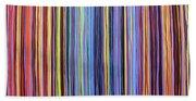 Rainbow Stripes Purple Gold 201912 Beach Towel