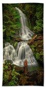 Rainier Falls Creek Falls Beach Towel