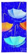 Rainy Day Parade Beach Sheet