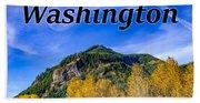 Randle Washington In Fall Beach Towel