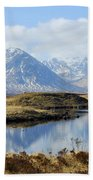 Rannoch Moor In Winter Beach Towel