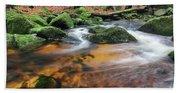 Rapids On Jedlova Brook, Jizera Mountains,  Czech Republic Beach Sheet