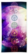 Reach Out To The Stars Beach Towel by Bee-Bee Deigner
