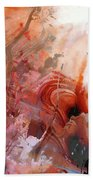 Red Abstract Art - The Vineyard - Sharon Cummings  Beach Towel