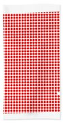 Red Dot Map Of Arkansas Beach Towel