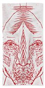 Red Face Beach Towel