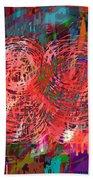 Red Swirls Beach Towel