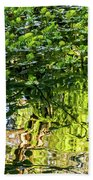 Reflections In Green Beach Towel by Kate Brown