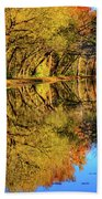 Reflections Of Autumn Beach Towel