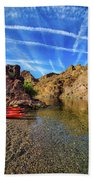 Reflections On The Colorado River Beach Sheet