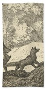 Renard Leaves With The Badger Beach Towel