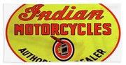Retro Indian Motorcycles Beach Towel