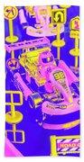 Retro Race Day Beach Sheet
