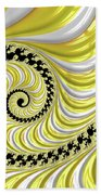 Ribbed Yellow Spiral Beach Towel