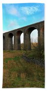 Ribblehead Viaduct On The Settle Carlisle Railway North Yorkshire Beach Towel