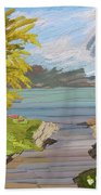 River Ode Beach Towel