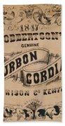Robbertson's Kentucky Bourbon Cordial Ad C. 1857 Beach Towel