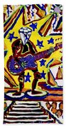 Rock And Roll Hall Dreams  Beach Towel