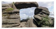 Rock Gate In The Nature Reserve Broumov Walls Beach Towel