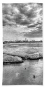 Rolling Into Nyc Black And White Beach Towel
