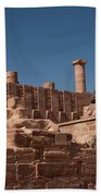 Roman Temple In Petra Beach Towel