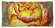 Rose Painting Beach Sheet