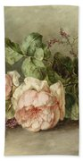 Roses, 19th Century Beach Towel