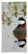 Ruddy Duck, Plumas County California Beach Towel