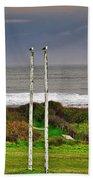 Rugby Goal - Hokitika - New Zealand Beach Towel